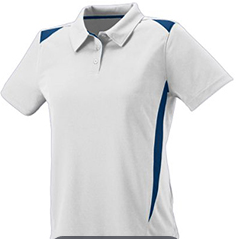 Augusta Sportwear-Athletic Polo in White/Navy